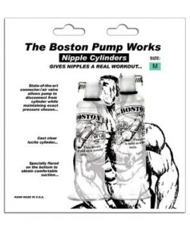 Boston pump works nipple cylinders  3/4  - pair