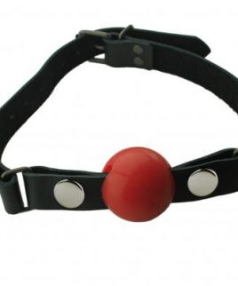 Removable Silicone Ball Gag 1.5 Inch - Red