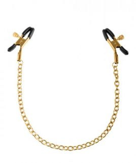 Gold Nipple Chain Clamps