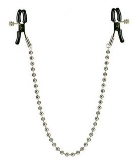 Nipple Clamps Silver Beaded Chain
