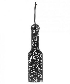 Ouch! Love Street Art Fashion Printed Paddle Black