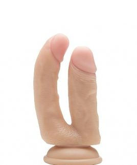 Realrock 6.5 inches Realistic Double Cock Beige