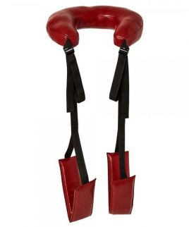 Sportsheets Saffron Thigh Sling Black Red Sex Position Strap