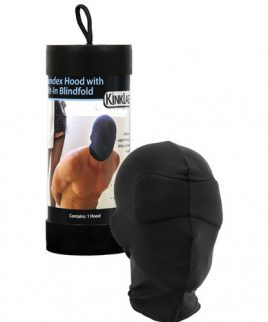 Kinklab spandex hood with built-in blindfold